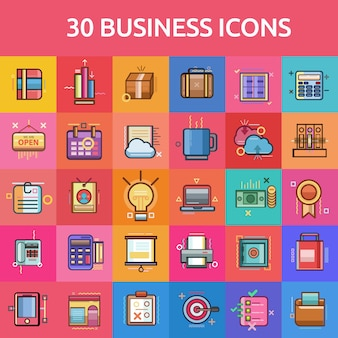 Business icons collectionb