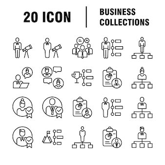 Business icons set. icons for business, management, finance, strategy, marketing.