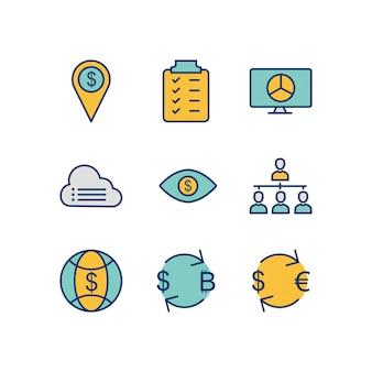 Business icons Premium Vector