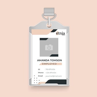 Business id card hanging