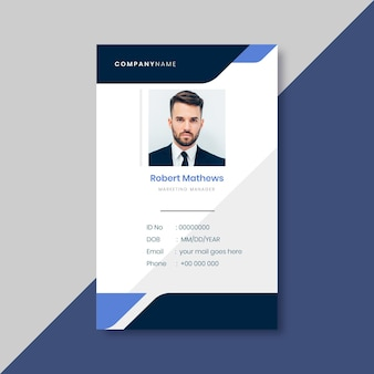 Business id card template with minimalist elements