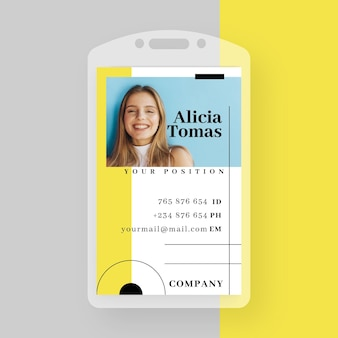 Business id card template with minimalist shapes