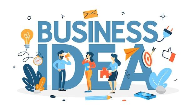 사업 아이디어 개념. 아이디어의 비유로 전구. 팀워크의 문제에 대해 브레인 스토밍하십시오. 창의적인 마음. 플랫