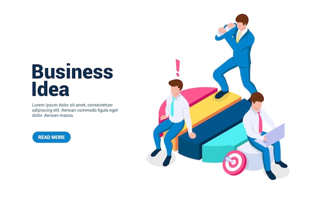 Business idea concept people on a light bulb generate new strategies and problem solutions