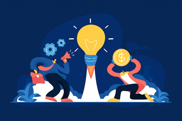Business idea concept vector illustration