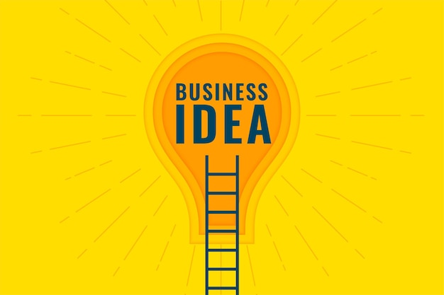 Business idea concept with ladder and bulb