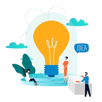 ビジネスアイデア、創造的なソリューション、ブレーンストーミング、専門知識