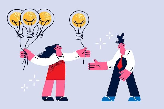 Business idea creativity and innovation concept