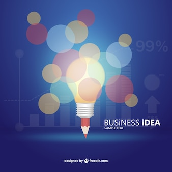 Business idea infographic with bokeh effect