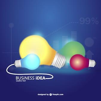 ビジネスアイデアのコンセプトベクトルインフォグラフィック