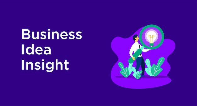 Business idea insight illustration