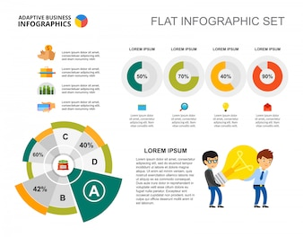 Business idea pie and doughnut charts template