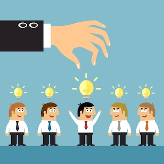Business ideas selection concept