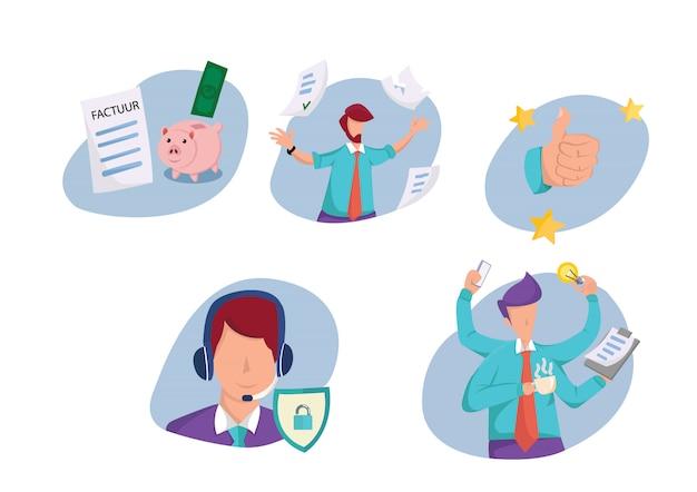 Business illustration set