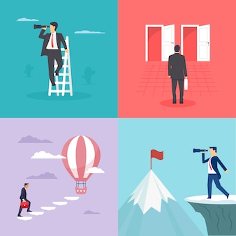 Business imaginations or opportunity illustrations