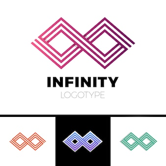 Business infinity symbol abstract logo design