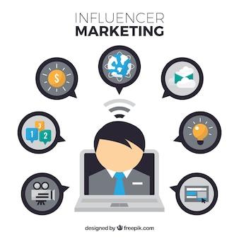 Business influencer marketing design