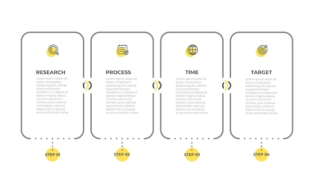 Business info graphic label design with icons elements