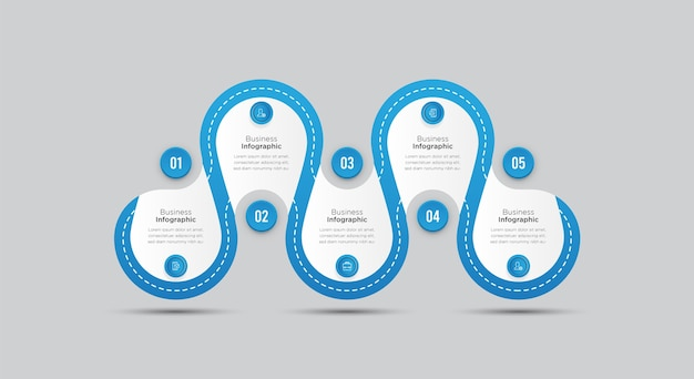 Business infographic banner template