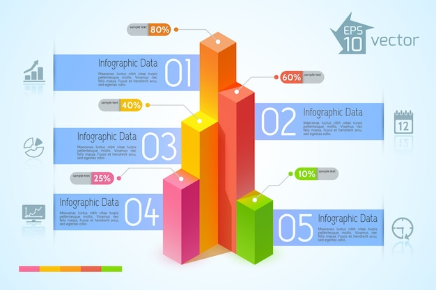 비즈니스 infographic 개념