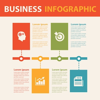 Business infographic concept.