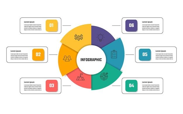 Business infographic design, 5 step timeline vector illustrations