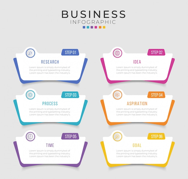 Business infographic design  can be used for workflow layout, diagram, annual report.