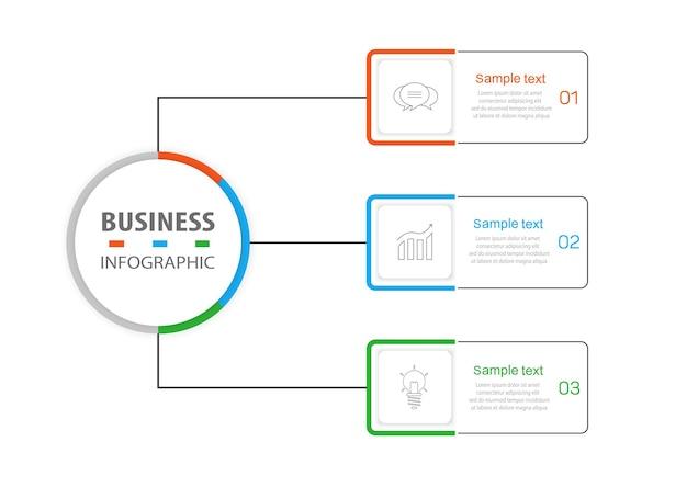 Шаблон бизнес-инфографики с 3 вариантами