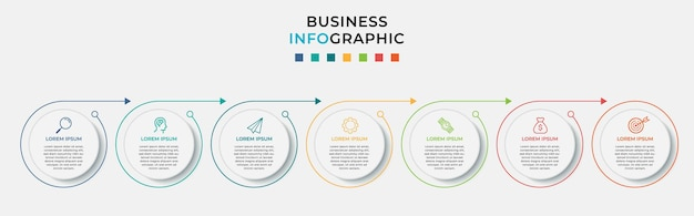 Business infographic design template with icons and options