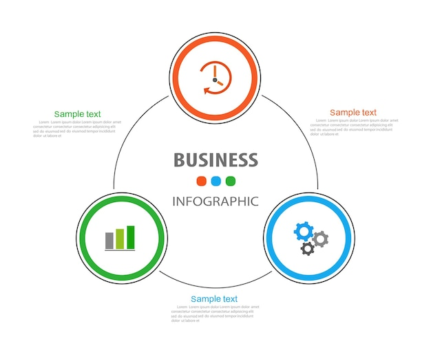 Шаблон оформления бизнес инфографики