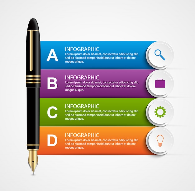 Business infographic design template.