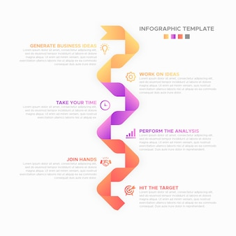 Business infographic design template