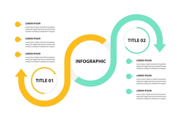 Business infographic design, vector illustrations