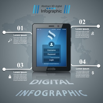 Business infographic. digital tablet icon