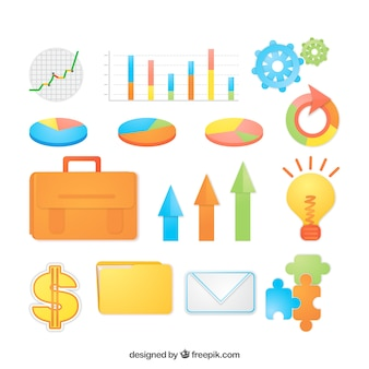 Business infographic element collection