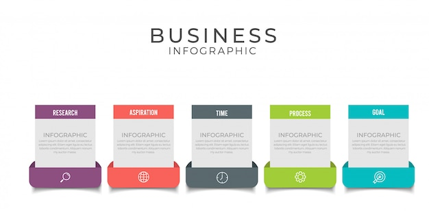 Business infographic element with options, steps