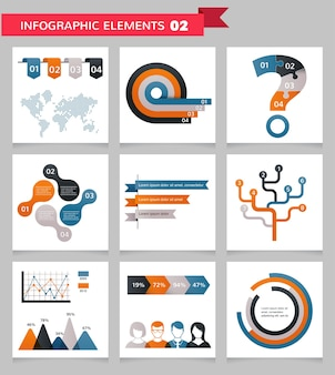 Business infographic elements set