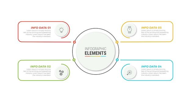 Шаблон бизнес-инфографики