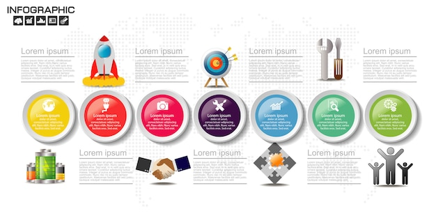 Business infographic elements template.