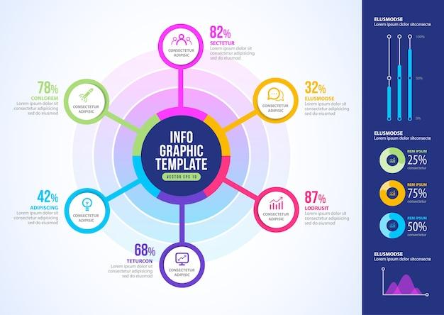 ビジネスインフォグラフィック要素