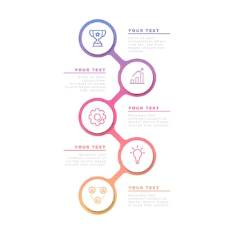 Business infographic in gradient