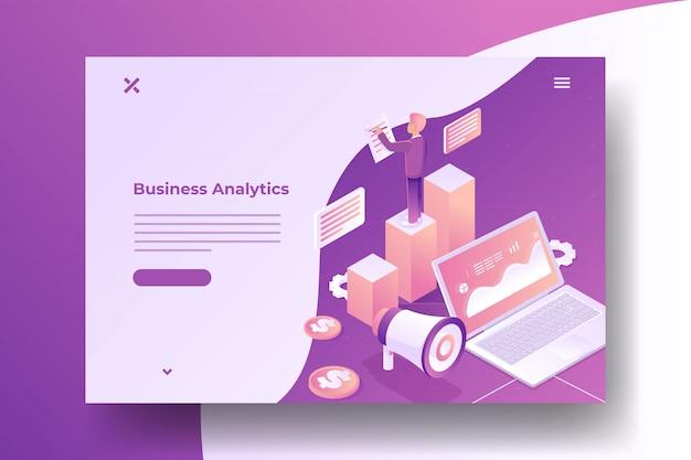 ビジネスインフォグラフィック等尺性バナー