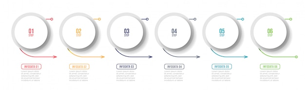 Business infographic label design with arrow and number options.