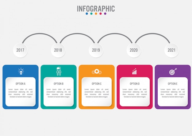 Business infographic labels template