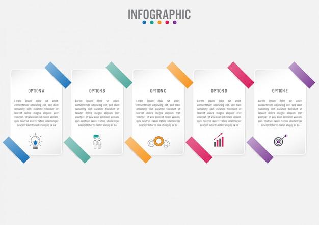 Шаблон бизнес инфографики этикетки