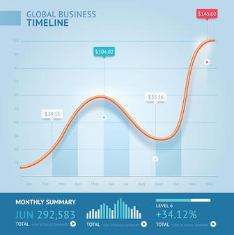Business infographic line template