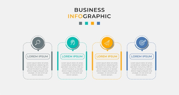 Business infographic in options