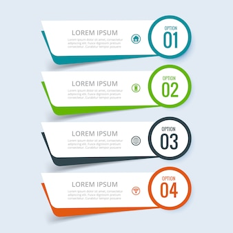 Business infographic set of steps design