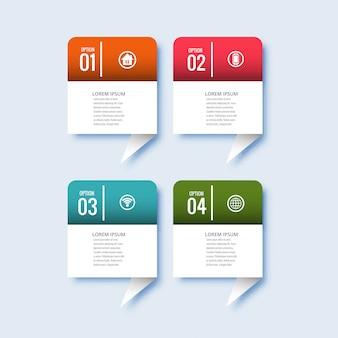 Business infographic set of steps design