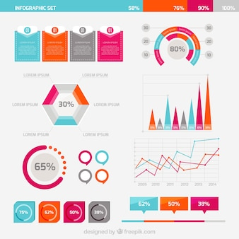 Business infographic set Free Vector